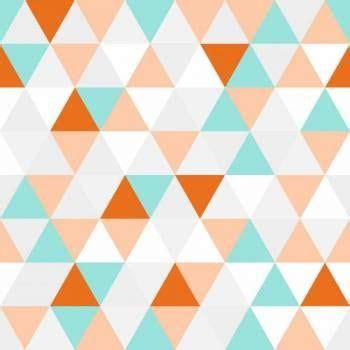 Papel de parede geométrico triângulos com desenho branco