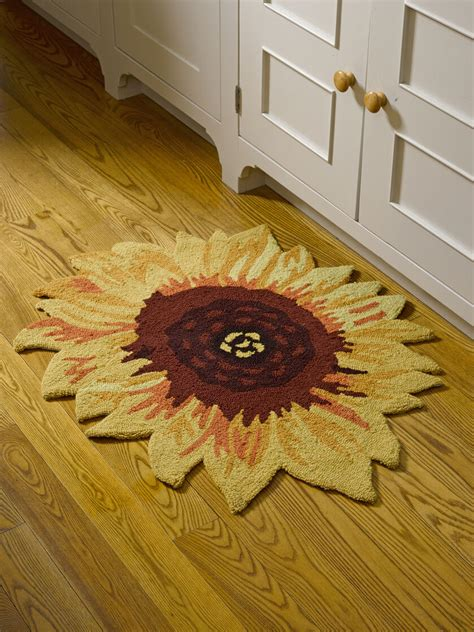 sunflower accent rug  slip backing
