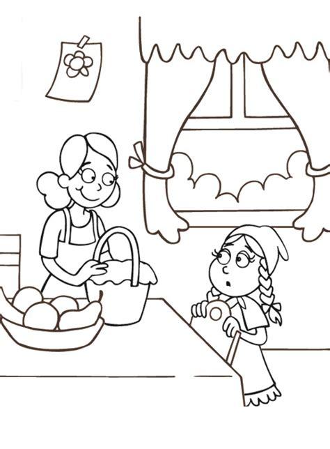 la mamma che da la cesta  cappuccetto rosso disegni da