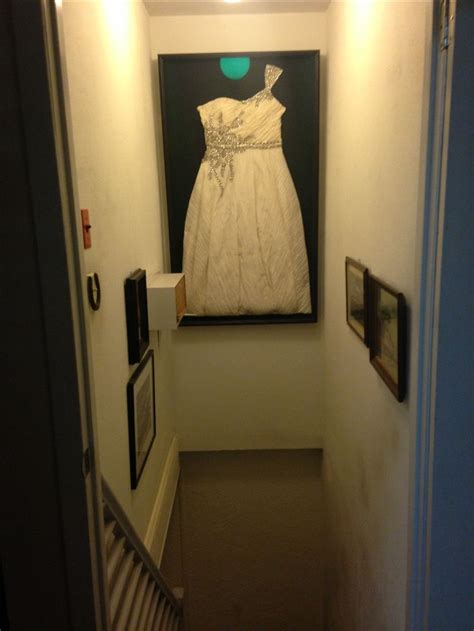 michaels framed  wedding dress   custom shadow box