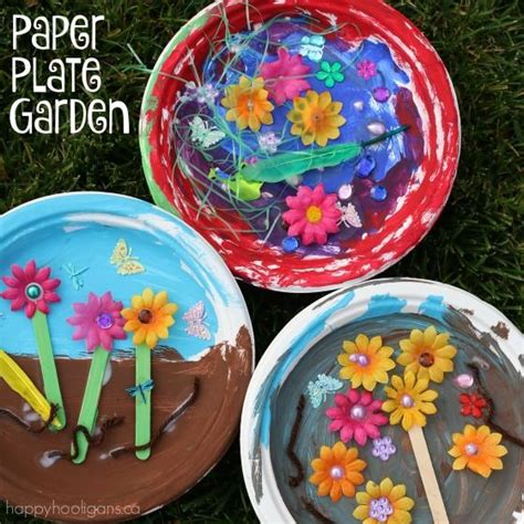 paper plate garden craft for preschoolers kids