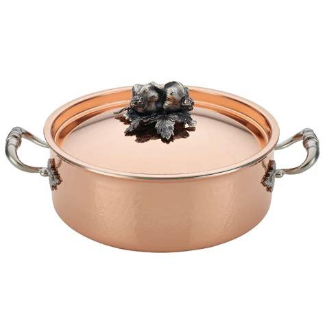 ruffoni opus  qt cupra copper  braiser  lid perigold