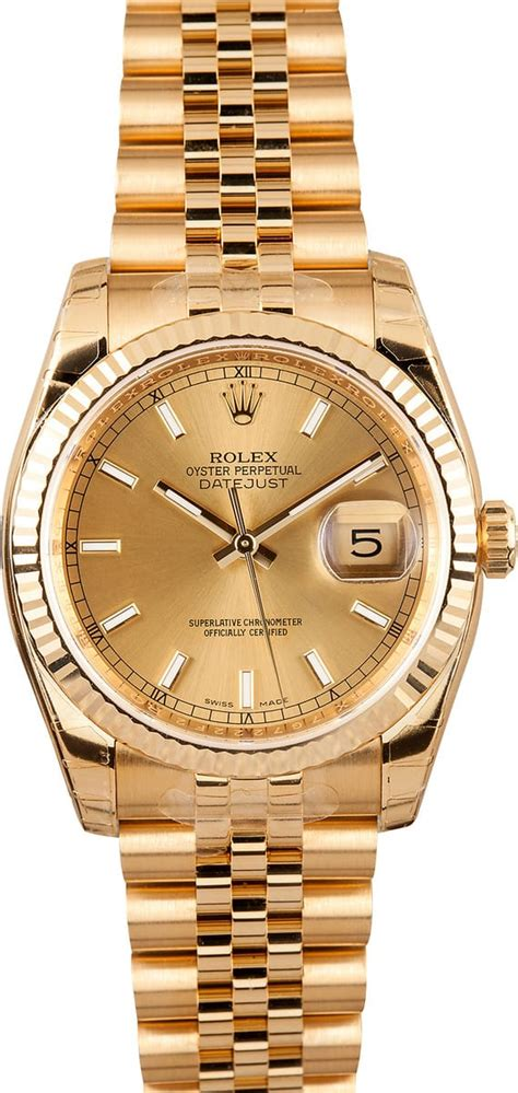 rolex  gold datejust  save