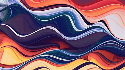 4k Abstract Colorful Wave Waves Wallpapers Abstraction