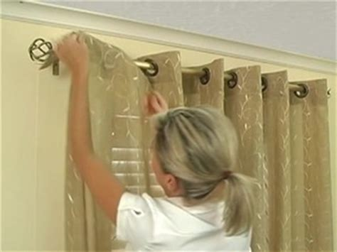 how to hang grommet drapes how to install window drapes grommet drapery
