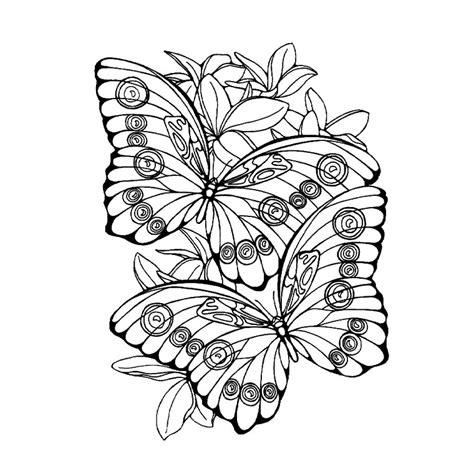 mandalas mariposa  mandalas paginas  colorear