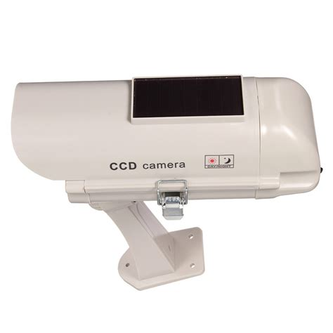 solar powered dummy security cctv simulation