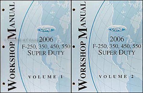 auto repair manual online 2006 ford f series transmission control 2006 ford super duty f 250 550 repair shop manual original 2 volume set