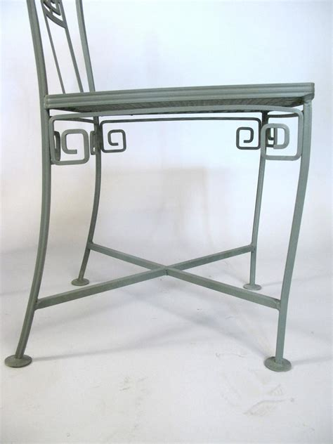 vintage wrought iron key dining table and chairs at