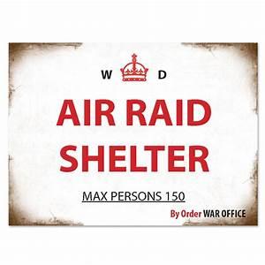 Air Raid Shelter Metal Sign Peeks