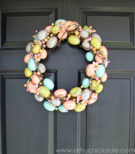 easter wreaths for front door easter inspiration a wreath 3 ways artsy rule 174