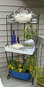 Upstairs, Downstairs, Blue, And, White, Outdoor, Baker, U0026, 39, S, Rack