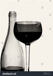 Abstract Black And White Photo Of Wine Bottle And Glass ...