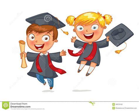 nios graduados animados graduado ilustraci 243 n