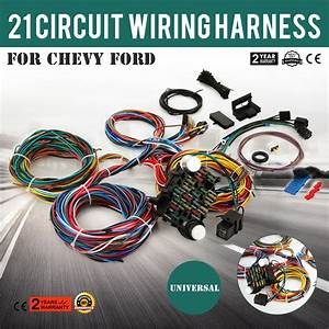 21 Circuit Wiring Harness Fit Chevy Universal Wires X