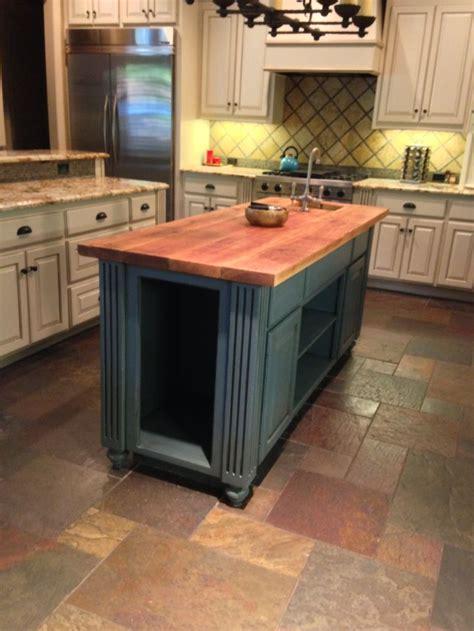 cedar kitchen island refinished kitchen island cedar top painted and glazed 2033