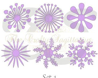 paper flower center template paper flowers etsy