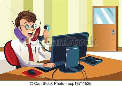 busy signal on cell phone vector illustration of busy businessman on the phone a