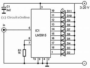 audio vu meter from line input or speaker input With lm3915 datasheet