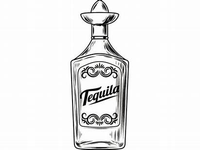 Tequila Bottle Liquor Svg Alcohol Sombrero Glass