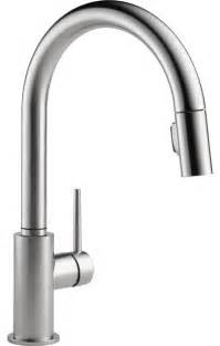 kitchen faucets modern delta trinsic arctic 1 handle pull kitchen faucet modern kitchen faucets other metro