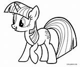 Pony Coloring Twilight Sparkle Printable Cool2bkids sketch template