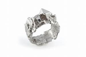 White Meteorite Ring - ROS MILLAR