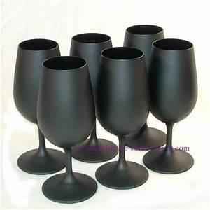 Verre A Vin Noir : 6 verres a vin inao noirs mat ~ Teatrodelosmanantiales.com Idées de Décoration