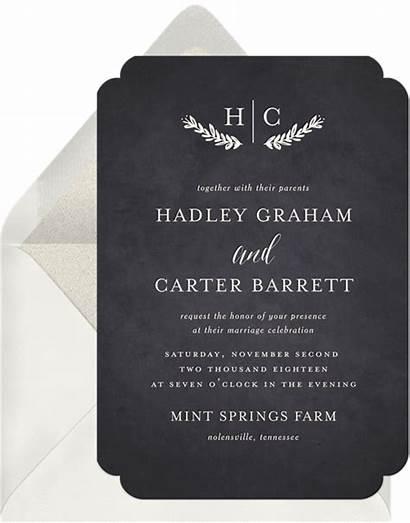 Reception Invitations Invitation Charm Rustic Greenvelope Word