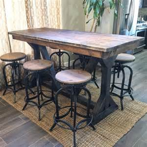 design your own kitchen island rustic pub table by sweetnettajean on etsy