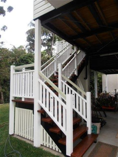 timber stairs balustrade classic queenslander style