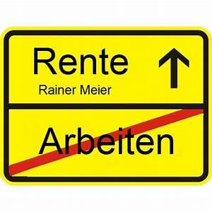 Arbeitstage Bis Zur Rente Berechnen : ortsschild zur rente das besondere abschiedgeschenk ~ Themetempest.com Abrechnung