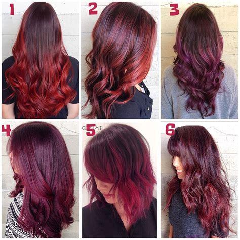 Long Burgundyred Hair Colors Ideas