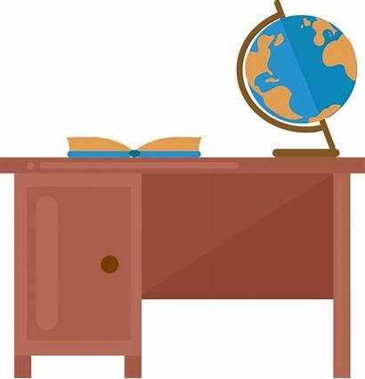 Teacher Desk Clipart Creazilla Transparent
