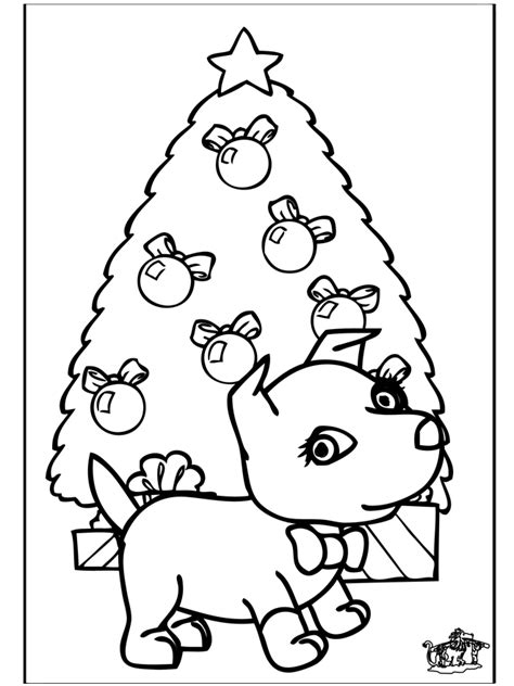 Christmas Puppy Coloring Pages - Coloring Home
