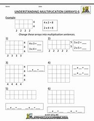 best multiplication arrays  ideas and images on bing  find what  array model multiplication worksheets