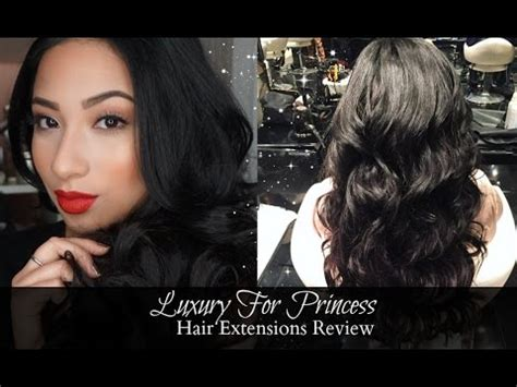 luxury  princess hair extensions review youtube
