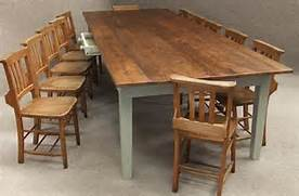 Farmhouse Dining Room Table Seats 12 by Large Pine Kitchen Table To Seat Up To 12