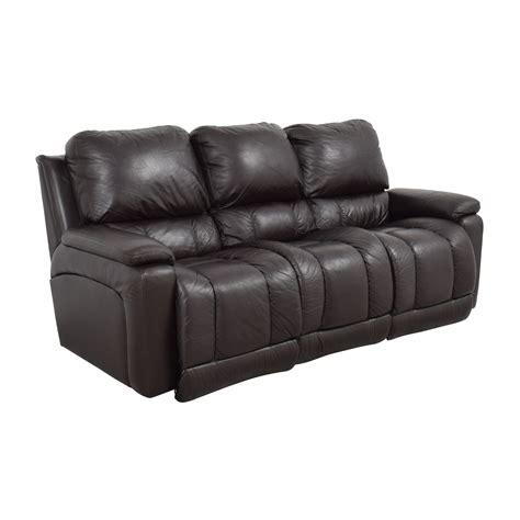 77% Off  Lazboy Lazboy Brown Leather Reclining Sofa