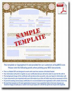 Downloadable mco template o buy manufacturer certificate for Certificate of origin for a vehicle template