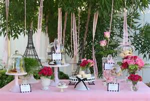French Paris Themed Tea Party Ideas