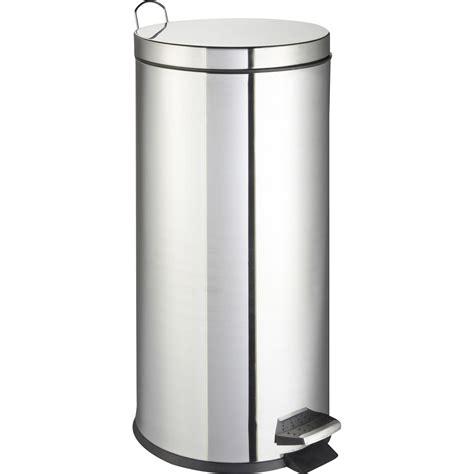 poubelle de cuisine à pédale frandis métal inox 30 l