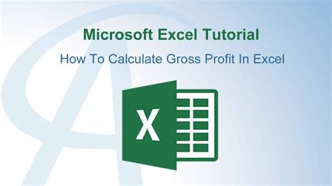 How To Calculate Gross Profit In Excel Youtube