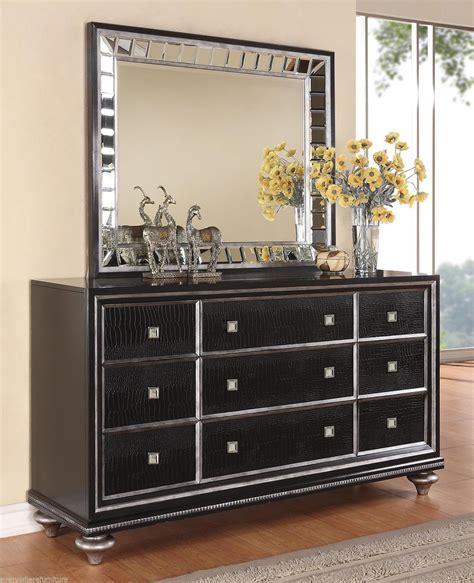 glam bedroom set wynwood glam black mirrored king size mansion bed bedroom