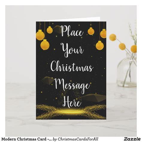 modern christmas card customisable zazzlecom