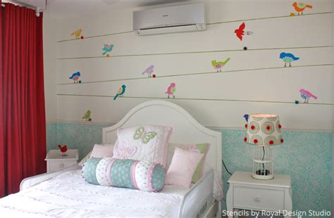 Mix Up Stencils To Get A Cute Girls' Bedroom  Paint + Pattern