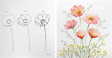 artist reveals  simple steps  drawing perfect flowers