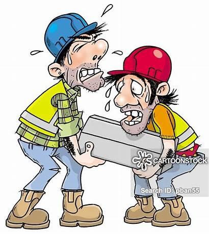 Foreman Workman Lifting Weights Cartoon Cartoons Funny