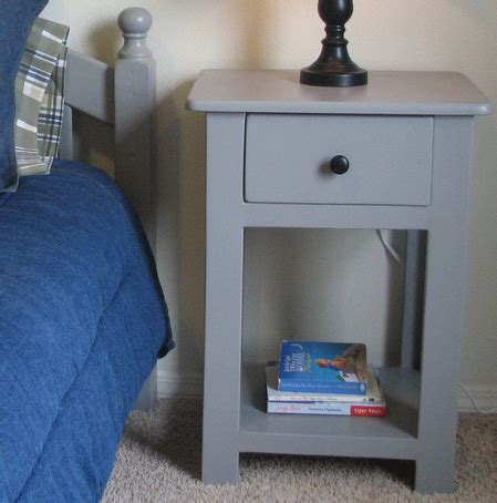 White Simple Nightstand by White And Beth S Simple Nightstands Diy Projects