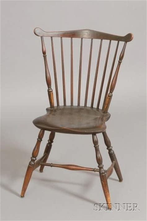 superb 18th c american brown painted new